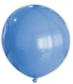 Riesen Party Dekoration XXL Luftballon blau 80cm