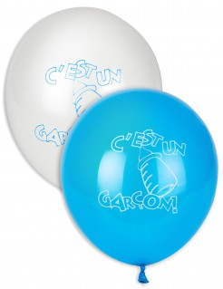 Party Dekoration Baby Party Junge 2-teilig blau-weiss 27cm