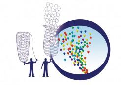 Netz für Luftballons