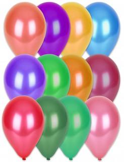 Luftballon-Set Party Dekoration Metallic 100 Stück bunt 29cm
