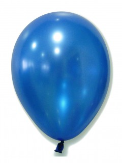 Metallic Luftballons Ballons Party-Deko 100 Stück blau 30cm