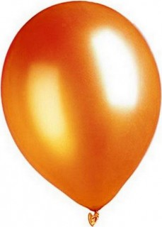 Metallic Luftballons Ballons Party-Deko 100 Stück orange 30cm