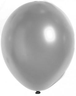 Silvester Party Dekoration Luftballons 100 Stück silber 29cm