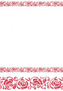 Tischdecke mit Arabesken rot