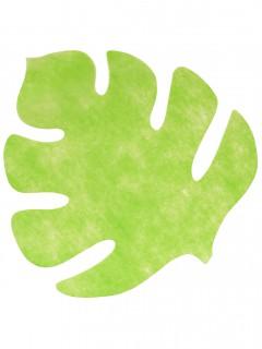 Set mit vier grünen Blättern aus Filz