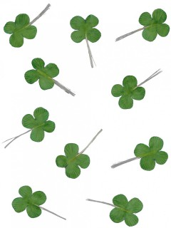 St. Patrick´s Day Kleeblatt-Set 12 Stück grün
