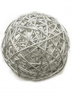 Stylishe Raumdekoration Korbkugeln 2 Stück silber 6 cm