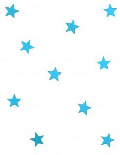 Spiegelnde kleine Konfetti Sterne 10 Stück türkis 3cm