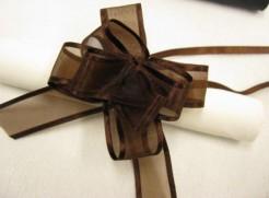 Geschenk-Schleifen 6 Stück braun
