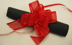 Geschenk-Schleifen 6 Stück rot