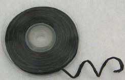 Glänzendes Bastband Bastel- und Dekoband Geschenkband schwarz 10m