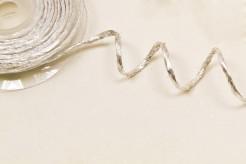 Deko Bastrolle mit Silberdraht metallic-silber