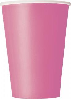Pappbecher Party-Tischdeko 10 Stück rosa 355ml