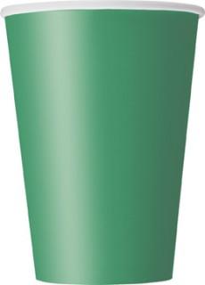 Party Pappbecher 10 Stück dunkelgrün