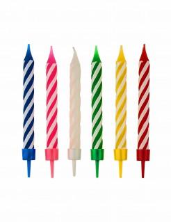 Geburtstagskerzen 12 Stück bunt