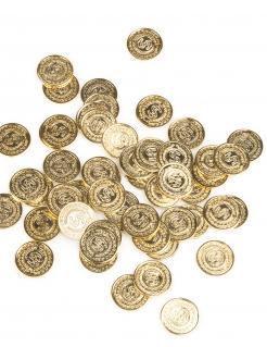 Piraten Münzen Geldstücke gold 144 Stück