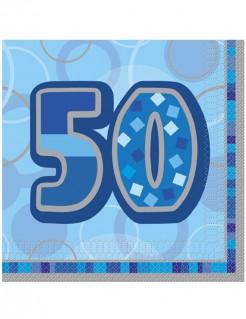 Servietten 50 Jahre 16 Stück blau