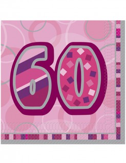 Servietten 60 Jahre 16 Stück pink
