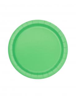 Runde Party-Pappteller 20 Stück grün 18cm