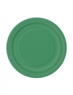 Party Pappteller 20 Stück grün 18cm