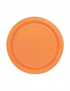Runde Pappteller 20 Stück orange 18cm