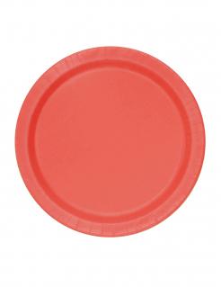 Pappteller Tischdeko Set 20 Stück rot 17,78cm