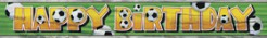 Fussball-Banner Happy Birthday bunt 34,3cm