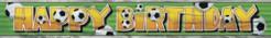 Fussball-Banner Happy Birthday bunt 34,3cm