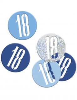 Geburtstags-Konfetti Jubiläumsdeko 18 Jahre blau-hellblau-silber 14g