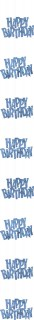 Hängedeko Happy Birthday Geburtstagsdeko blau 152 cm