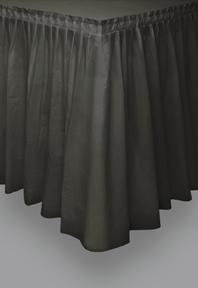 Halloween Tischrock schwarz 73 x 426 cm