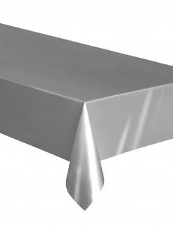 Einweg-Tischdecke aus Kunststoff silber 137 x 274 cm