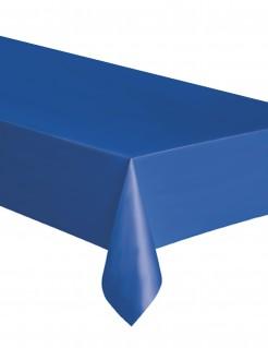 Rechteckige Kunststoff-Tischdecke blau 137 x 274 cm
