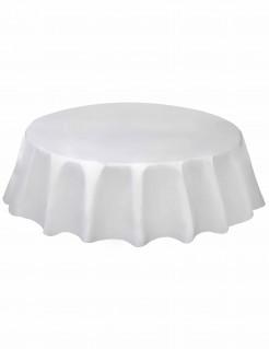 Runde Tischdecke Tischdeko weiss 213cm