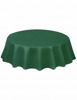 Runde Party-Tischdecke Tischdeko dunkelgrün 213cm