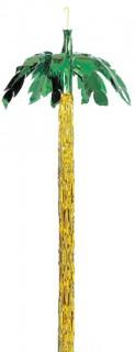 Deko Palme zum Aufhängen grün-gelb 243 cm