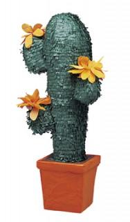 Kaktus-Piñata Partydeko grün-braun