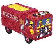 Feuerwehrwagen-Piñata Kindergeburtstags-Partydeko bunt