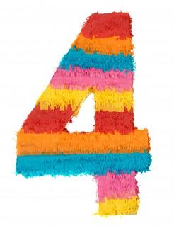 Piñata Zahl 4 Partydeko bunt