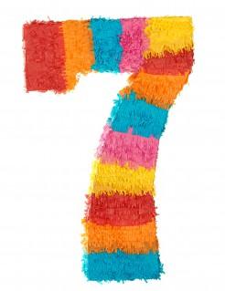 Piñata Zahl 7 Partydeko bunt