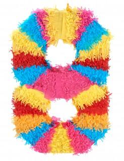 Piñata Zahl 8 Partydeko bunt