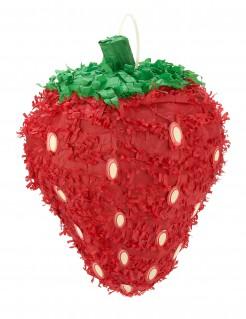 Erdbeer-Piñata Partydeko rot-grün
