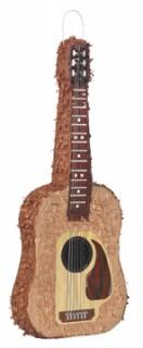 Gitarren-Piñata Partydeko braun