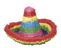 Sombrero-Piñata Partydeko bunt