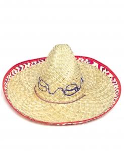 Sombrero Mexikaner-Hut beige-pink