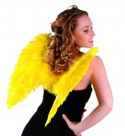 Engelsflügel Kostümaccessoire Federflügel gelb
