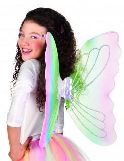 Schmetterlings-Flügel Fee Kostüm-Accessoire rosa-grün-blau