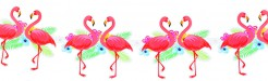 Flamingo-Girlande Karton