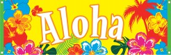 Hawaii Banner Aloha Party-Deko bunt 74x220cm