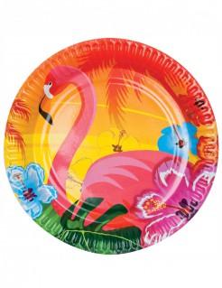 Hawaii Teller Party-Deko 6 Stück bunt 23cm
